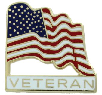 Veteran American Flag Pin