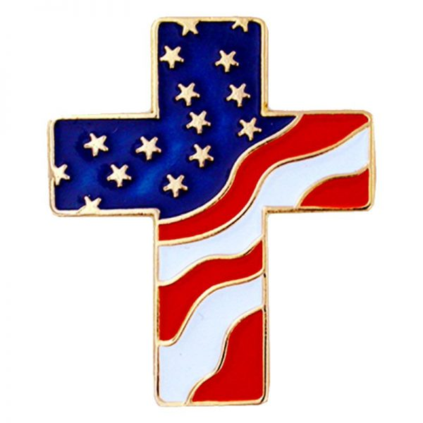 American Flag Cross Pin