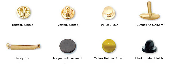 Backside of Lapel Pins examples