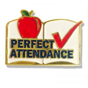PERFECT ATTENDANCE LAPEL PIN