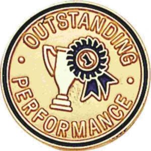 Outstanding Performance Sales Lapel Pin